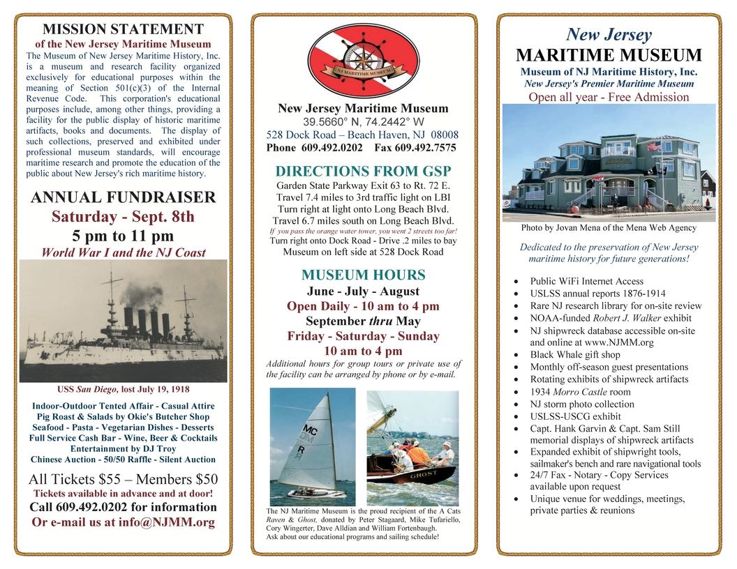2018 NJ Maritime Museum Brochure - New Jersey Maritime Museum