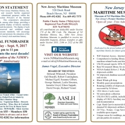 2017 NJ Maritime Museum Brochure