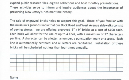 New Expanded Brick Order Form