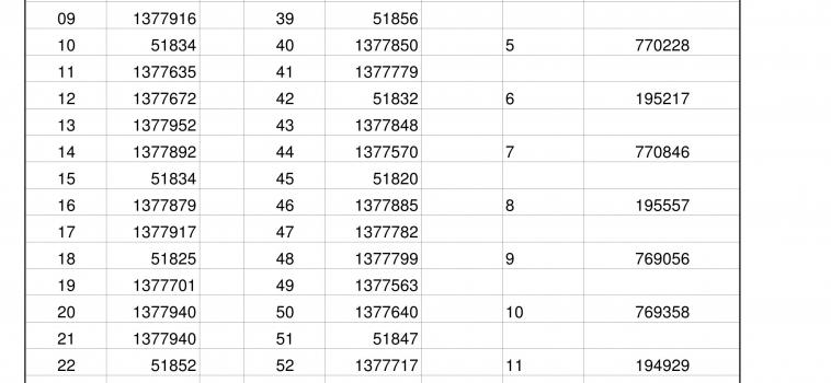 2019 Fundraiser Winning Numbers