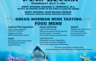 12 Days of Terror – Shark Awareness Wine Dinner